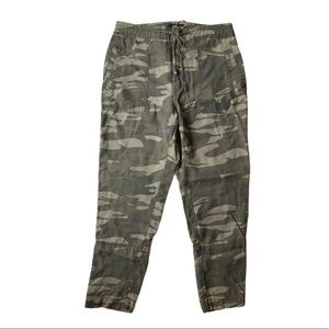EXPRESS Camouflage Drawstring Ankle Pants …